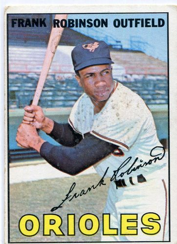 Photo of 1967 Topps #100 Frank Robinson -- Orioles Hall of Famer