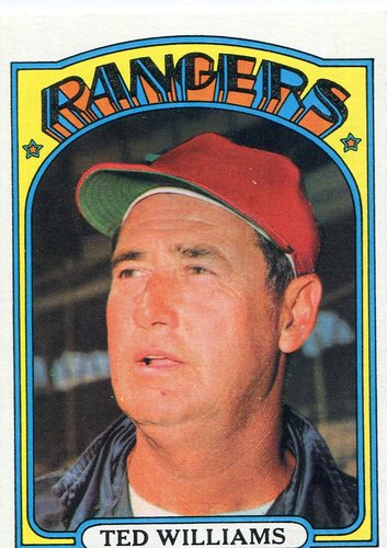 Photo of 1972 Topps #510 Ted Williams manager