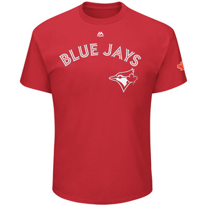 Toronto Blue Jays Youth Red Wordmark T-Shirt by Majestic