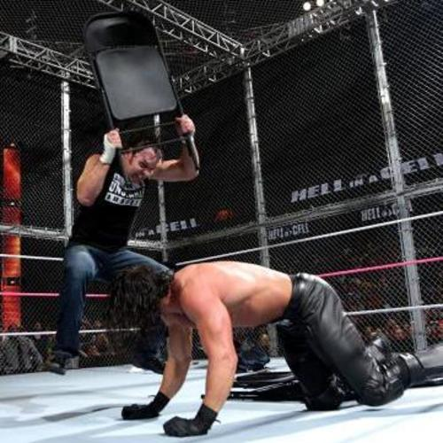 Rollins Chair: Dean Ambrose USED & SIGNED Steel Chair (Hell In A Cell