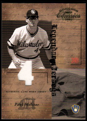 Photo of 2004 Donruss Classics Legendary Jerseys Material Number #36 Paul Molitor/50