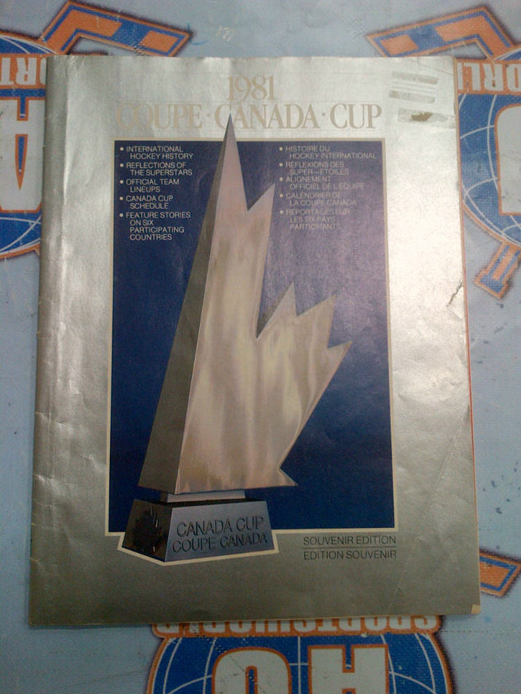 1981 CANADA CUP Program *Souvenir Edition*