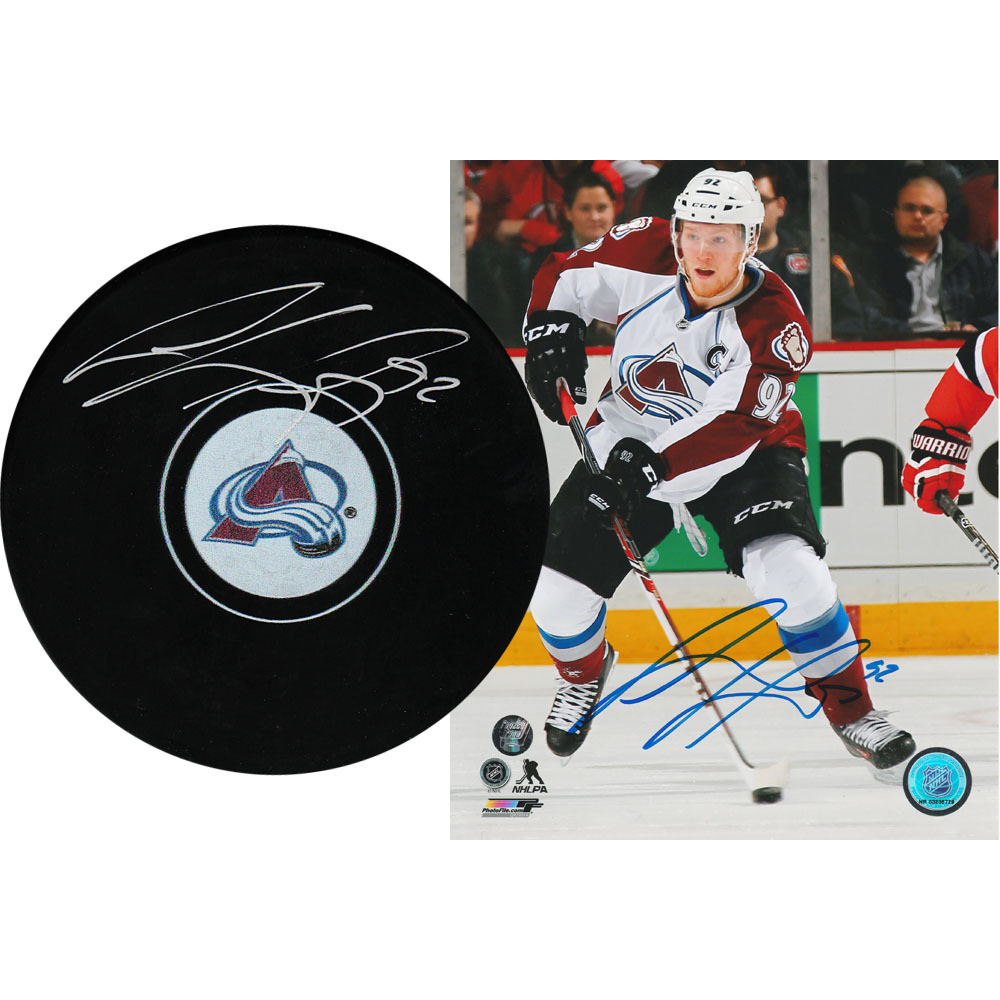 Gabriel Landeskog Autographed Combo Lot - 8X10 Photo & Puck