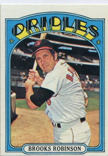 Photo of 1972 Topps #550 Brooks Robinson Hall of Famer