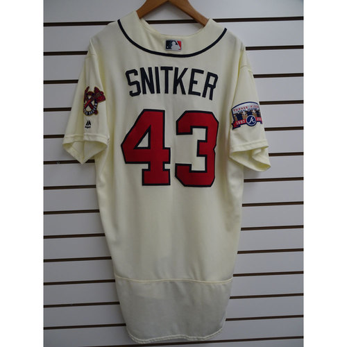 Photo of Brian Snitker Game-Used Jersey Worn during the Final Game at Turner Field
