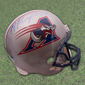 Mike Pringle Montreal Alouettes Autographed Full Size CFL Football Helmet