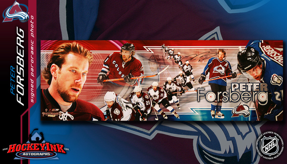 PETER FORSBERG Signed Career Panoramic