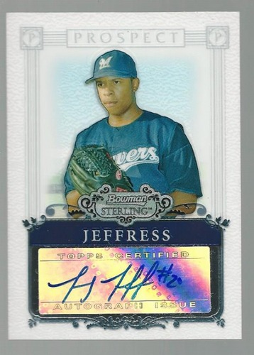 Photo of 2006 Bowman Sterling Prospects #JJ Jeremy Jeffress AU B
