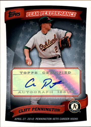 Photo of 2010 Topps Peak Performance Autographs #CPE Cliff Pennington