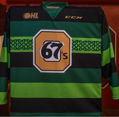 #93 Mathieu Foget St. Pats Jersey