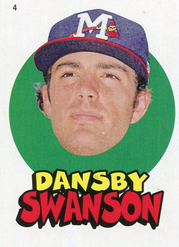 Photo of 2016 Topps Heritage Minors '67 Topps Stickers #4 Dansby Swanson