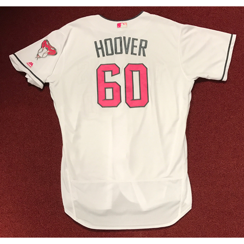 Photo of J.J. Hoover Game-Used 2017 Mother's Day Jersey