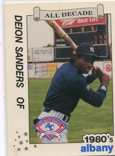 Photo of 1990 Albany Yankees All Decade Best #1 Deion Sanders