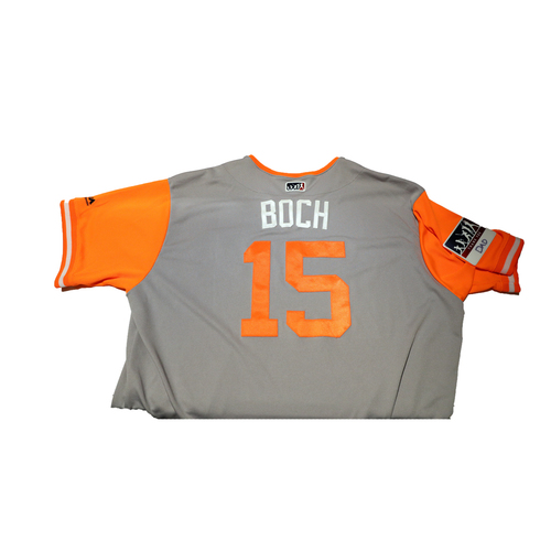 "Photo of Bruce ""Boch"" Bochy San Francisco Giants Game-Used Players Weekend Jersey"