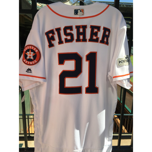 Photo of ALCS Game 6 Derek Fisher Game-Used Home Jersey