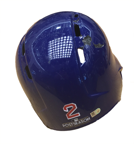 Photo of Tommy La Stella 2017 Postseason Batting Helmet