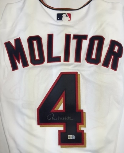 Photo of Paul Molitor Autographed Authentic Twins Jersey