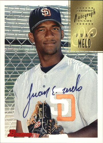 Photo of 1997 Bowman Certified Black Ink Autographs #CA53 Juan Melo