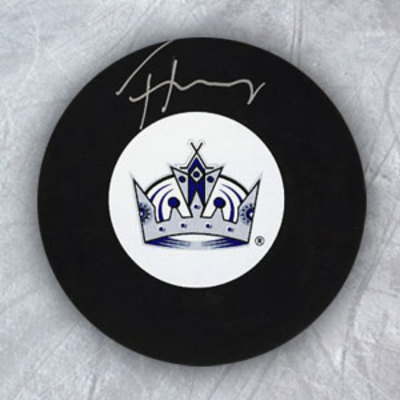 THOMAS HICKEY Los Angeles Kings Autographed Hockey Puck *New York Islanders*