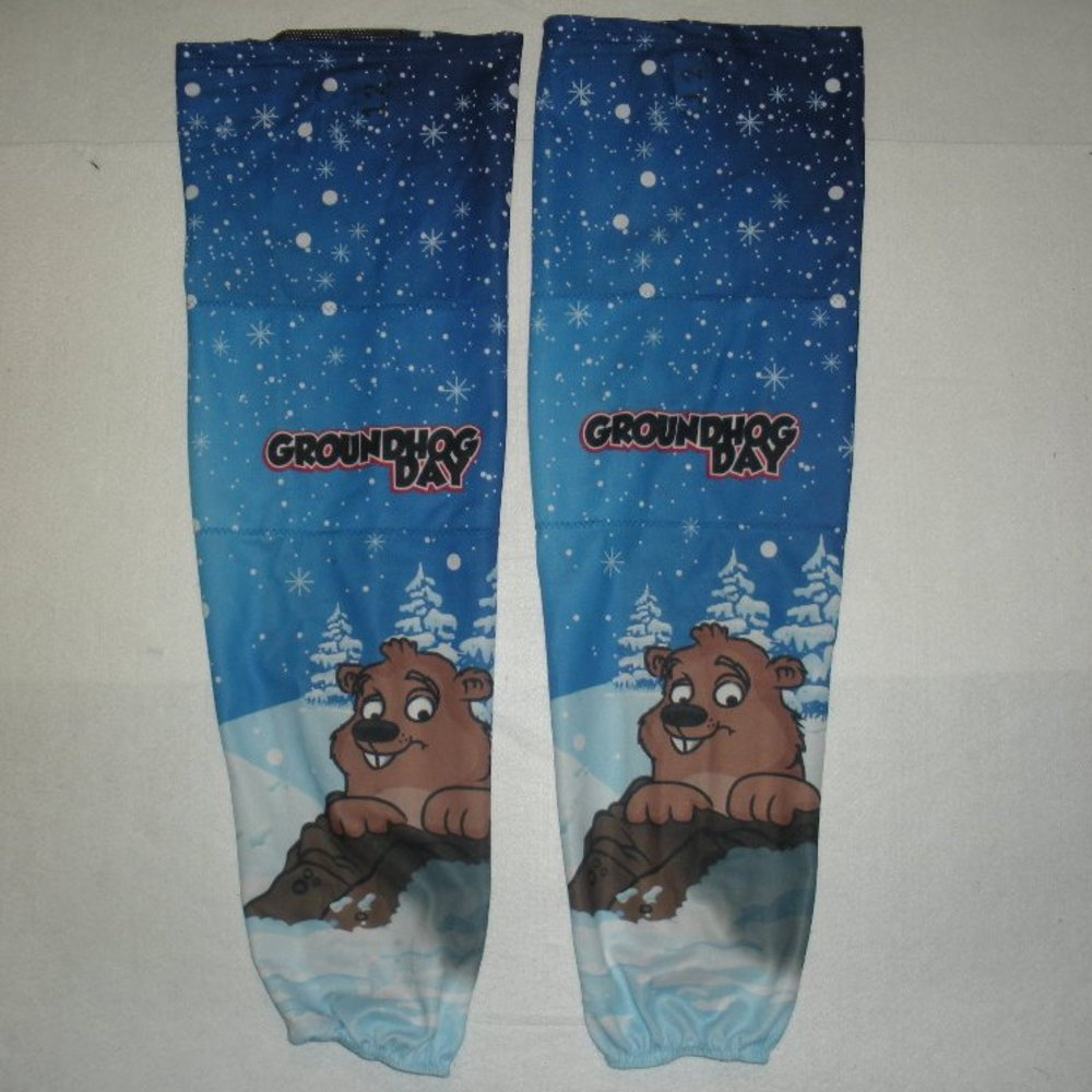 Nathan Walker - Hershey Bears - Groundhog Day Game-Worn Socks