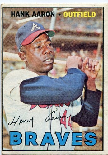 Photo of 1967 Topps #250 Hank Aaron -- Braves Hall of Famer
