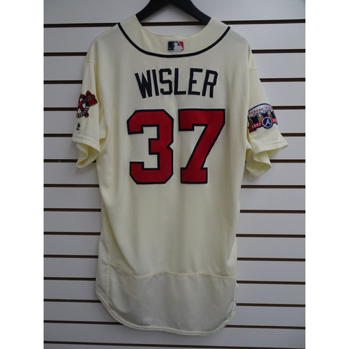 Photo of Matt Wisler Game-Used Jersey Worn during the Final Game at Turner Field