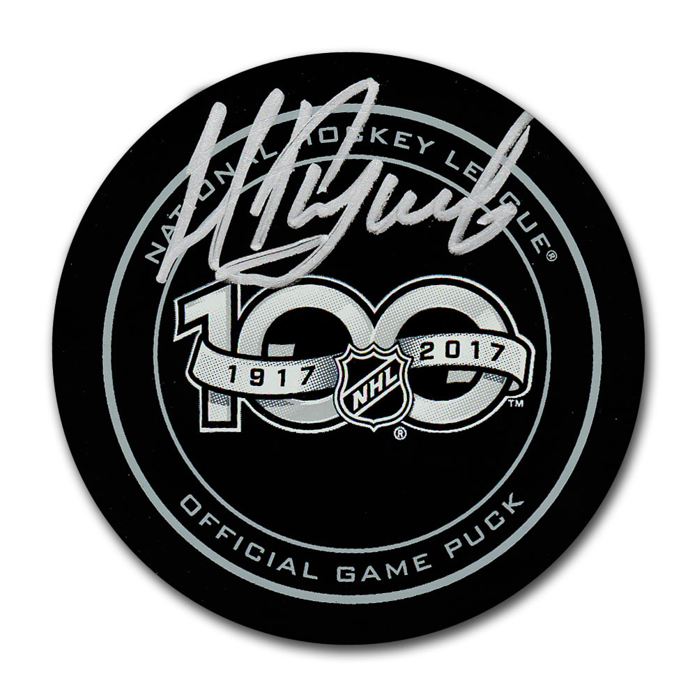Nikita Kucherov Autographed NHL 100th Anniversary Official Game Puck