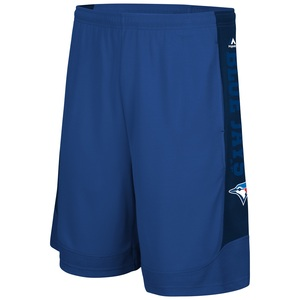 Big & Tall Performance Shorts Royal/Navy by Majestic