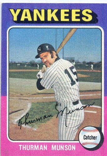 Photo of 1975 Topps #20 Thurman Munson