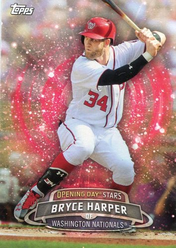 Photo of 2017 Topps Opening Day Opening Day Stars Bryce Harper -- Nationals post-season