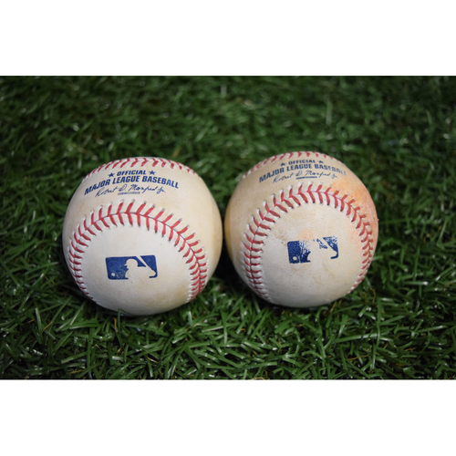 Photo of Game-Used Baseballs - September 29, 2017 - Jake Odorizzi and Brad Boxberger Strike Outs