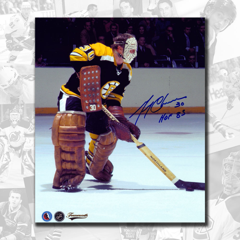 Gerry Cheevers Boston Bruins Autographed 8x10