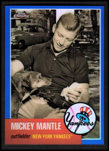 Photo of 2007 Topps Chrome Mickey Mantle Story Blue Refractors #MMS19 Mickey Mantle