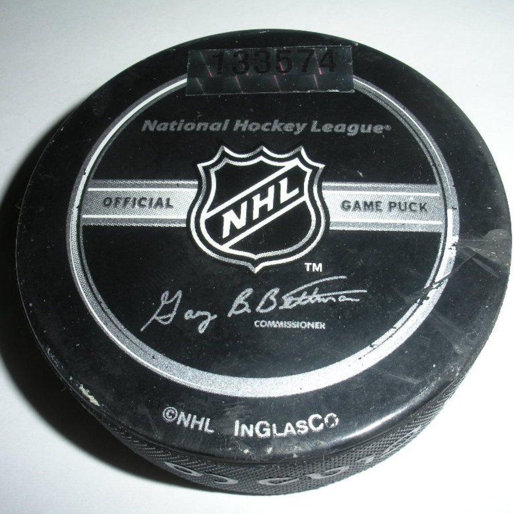 Tomas Plekanec - Montreal Canadiens - Goal Puck - December 30, 2007 (Rangers Logo)