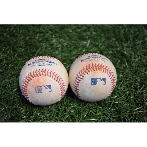 Photo of Game-Used Baseballs - September 29, 2017 - Wade Miley and Chris Tillman Strike Outs
