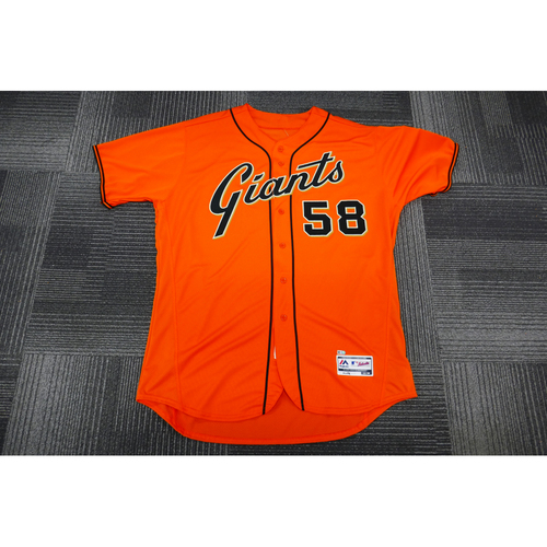 Photo of San Francisco Giants - 2017 Team-Issued Orange Alt Jersey - #58 Bill Hayes - (Size: 52)