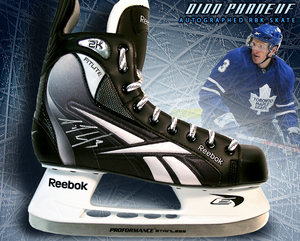 DION PHANEUF Signed RBK Skate - Toronto Maple Leafs