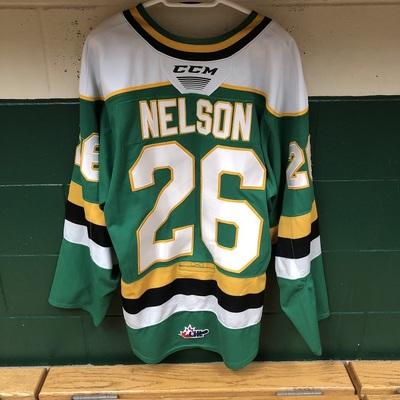 Josh Nelson 2019-2020 Green Game Jersey