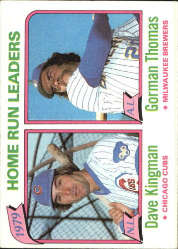 Photo of 1980 Topps #202 Home Run Leaders/Dave Kingman/Gorman Thomas