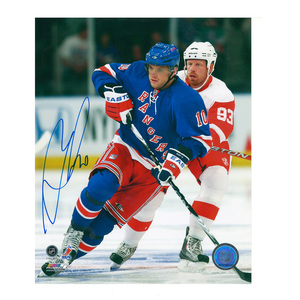 MARIAN GABORIK Signed New York Rangers 8 X 10 Photo - 70398