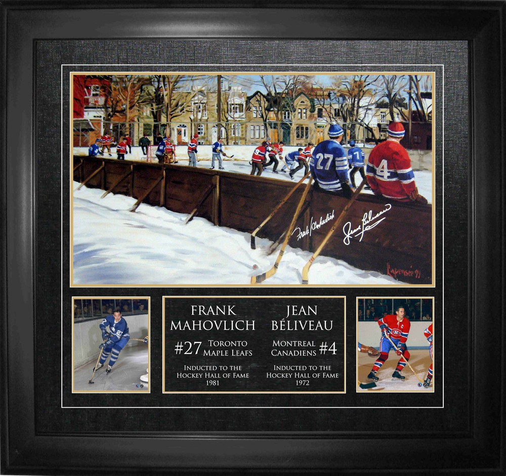 Frank Mahovolich & Jean Beliveau - Dual Signed