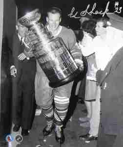 Eddie Shack - Signed 8x10 Toronto Maple Leaf Photo With Stanley Cup