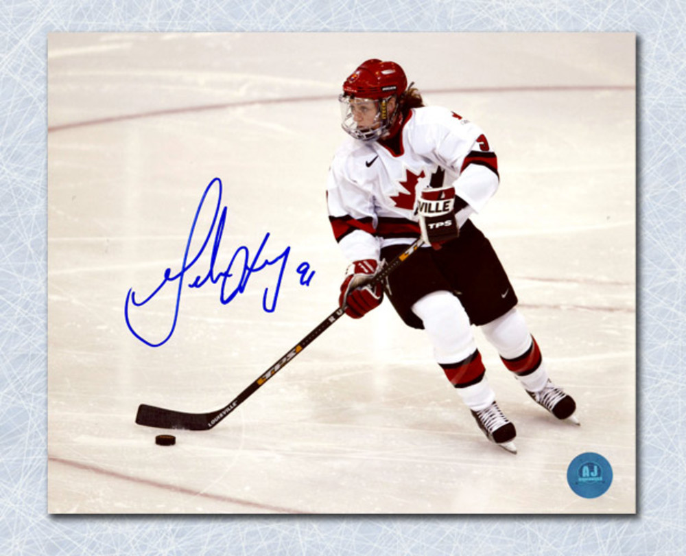 GERALDINE HEANEY Autographed Team Canada Olpmpic 8x10 Action Photo