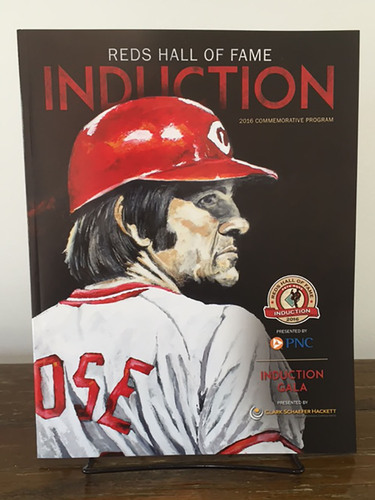 Photo of Offical 2016 Reds Hall of Fame Induction Commemorative Program