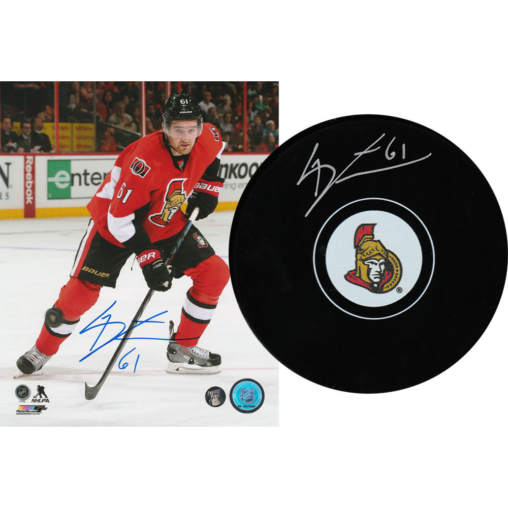 Mark Stone Autographed Combo Lot - 8X10 Photo & Puck