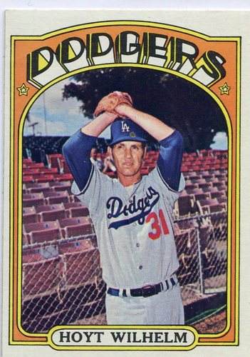 Photo of 1972 Topps #777 Hoyt Wilhelm Hall of Famer
