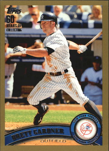 Photo of 2011 Topps Gold #69 Brett Gardner -- Yankees post-season