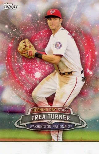 Photo of 2017 Topps Opening Day Opening Day Stars  Trea Turner -- Nationals post-season