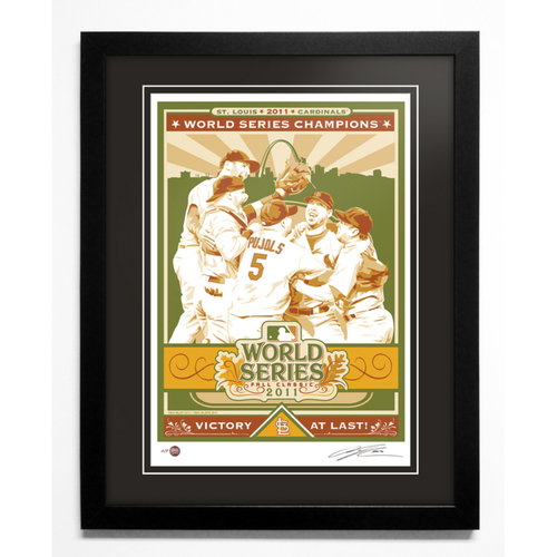 2011 St. Louis Cardinals World Series Champions Handmade Serigraph, Artist Proof, Signed by Artist & Framed