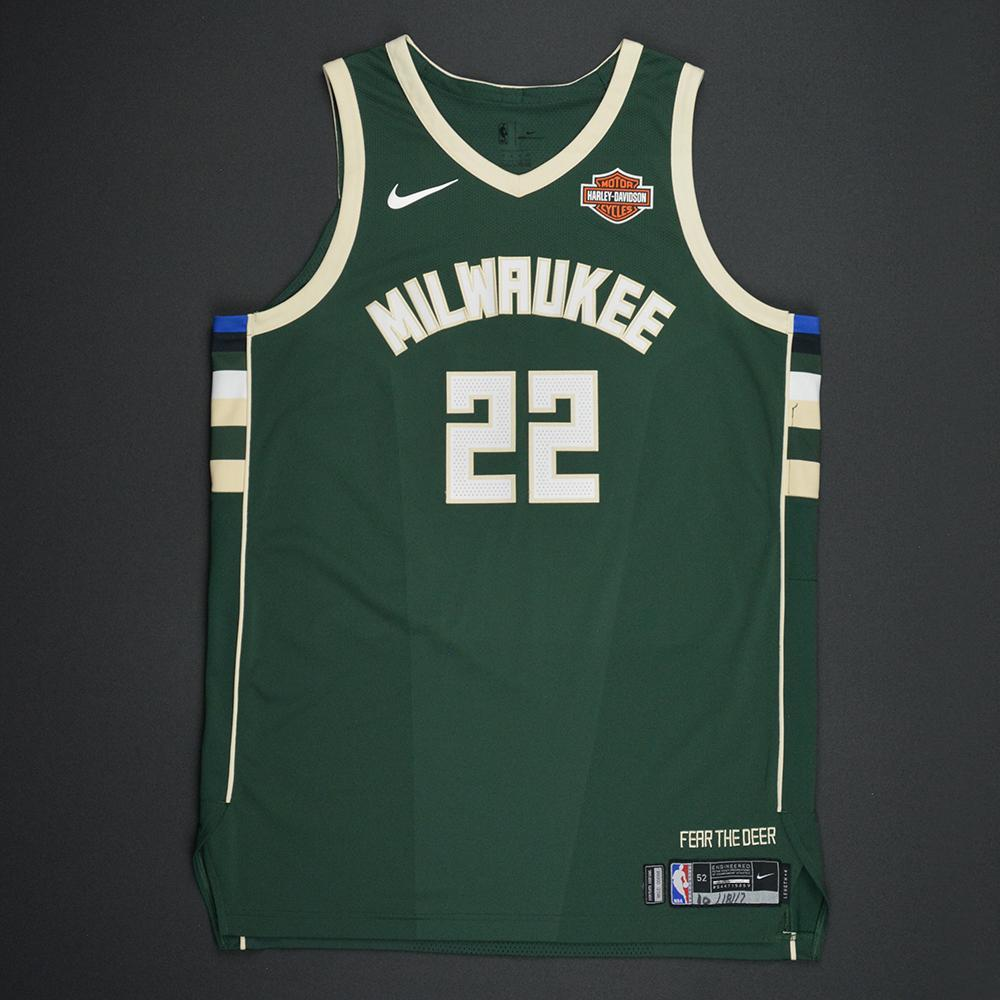 Khris Middleton - Milwaukee Bucks - Kia NBA Tip-Off 2017 - Game-Worn Jersey